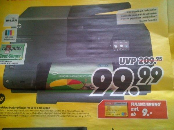 [MediMax - lokal] HP Multifunktionsdrucker Officejet Pro 8610 e-All-in-One (mit HP Officejet Trade-In nochmal 30€ Cashback = 69,99€)
