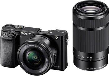 Sony Alpha 6000 schwarz + SEL-P16-50 + SEL 55-210