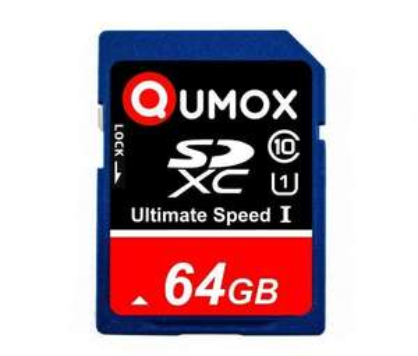 QUMOX 64GB SDXC Speicherkarte, Class 10 UHS-1, Versandkostenfrei @Amazon