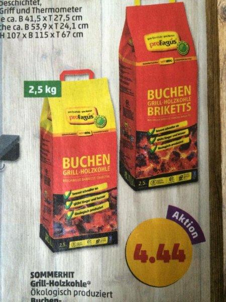 (Penny) proFagus Buchen Grill-Holzkohle oder Grill-Briketts 2,5kg für 4,44€