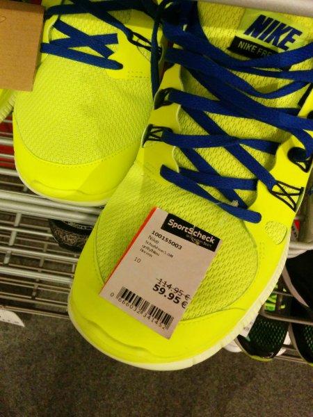 [Lokal M / Unterhaching] Nike Free 5.0 in großen und kleinen Größen.  Sport Scheck Outlet Unterhaching.