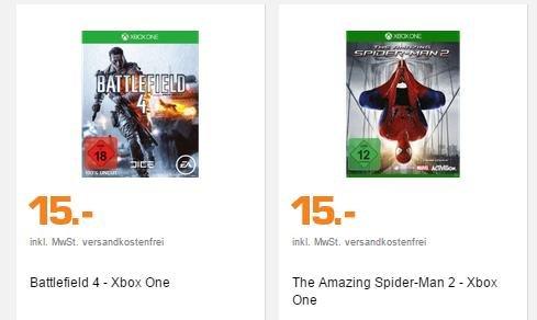 [SATURN] XBOX One - Battlefield 4 und The Amazing Spider-Man 2