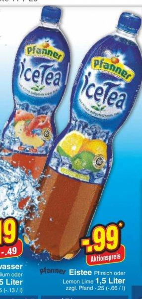 [Netto MD/Reebate] Pfanner Eistee 1,5l für 0,49€ (bis zu 2 Flaschen)