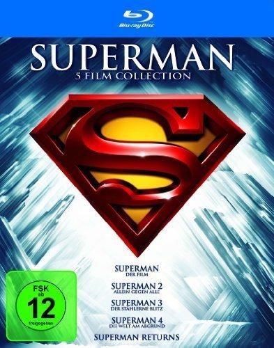 [Saturn] Superman Spielfilm-Box: Superman 1 - 5 auf 5 Blurays für 12,99€ versandkostenfrei