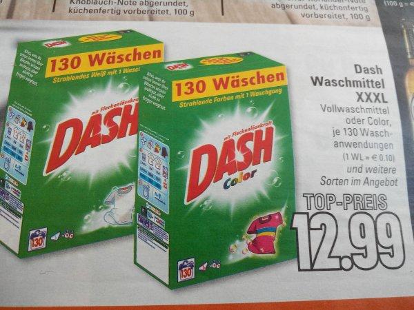 ( Edeka Rhein/Ruhr ) Dash Waschmittel XXXL 130 Wäschen für 12,99 €