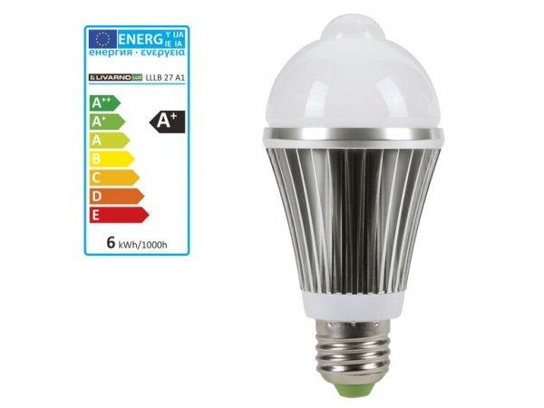 [3% Qipu] LIVARNO LUX® LED-Lampe mit Bewegungssensor (EEK A+ / Abschaltzeit ca. 60 Sek.) für 4,99€ zzgl. 4,95€ Versandpauschale @Lidl Online