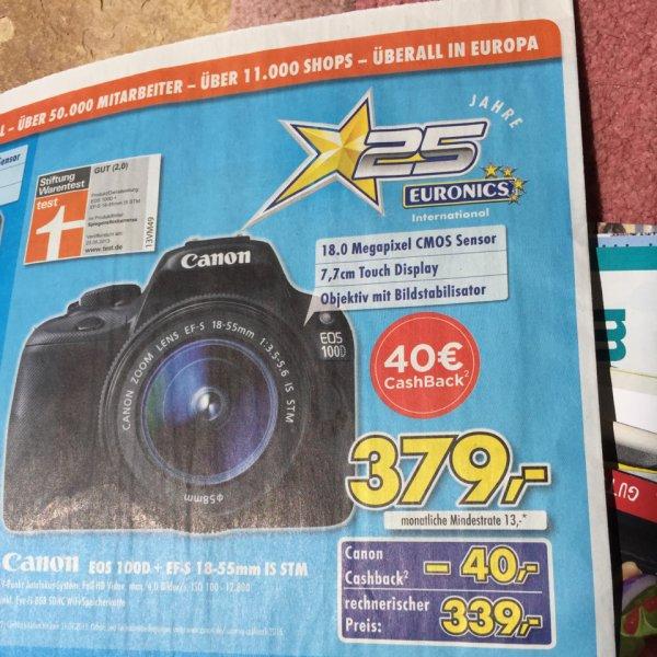 Lokal euronics Canon EOS 100D Kit 18-55 IS STM + WIFI