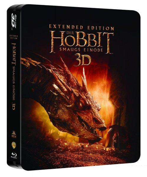 Der Hobbit: Smaugs Einöde Extended Edition 2D/3D BD Steelbook für 19,97€ (exklusiv bei Amazon.de) [Prime]