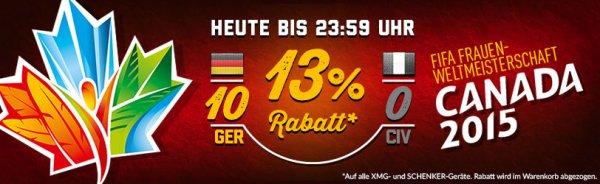 13% Rabatt! auf XMG / SCHENKER Notebooks