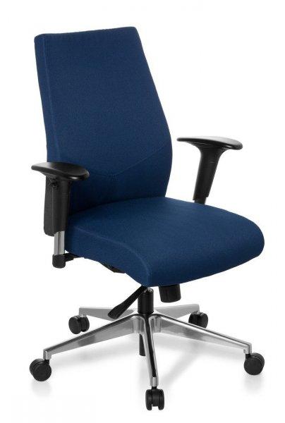 [WHD] HJH Office Pro Tec 250 Professioneller Bürostuhl Dunkelblau- 68% Rabatt