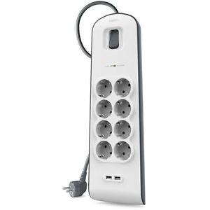 Belkin BSV804VF2M Surge Plus Steckdosenverteiler 8-fach mit USB, 29,90 EUR @ ebay