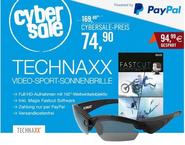echnaxx Video-Sport-Sonnenbrille 1080P TX-25 schwarz + Magix Fastcut