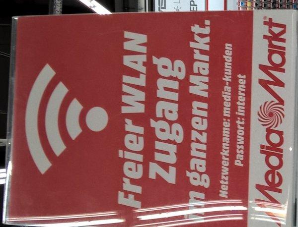 freies WLAN bei Media Markt Bremen Waterfront