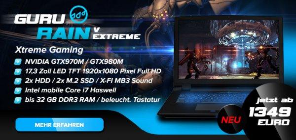 Gaming Notebooks mit bis zu 200 EUR Rabatt für nur 48 Stunden + GTA V o. Witcher 3