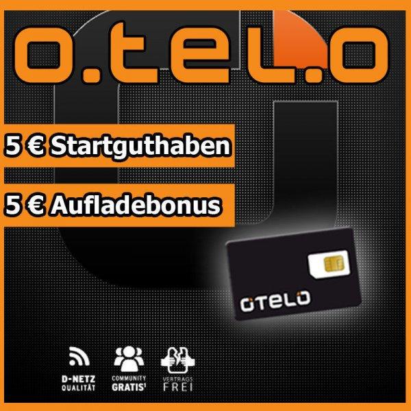 o.tel.o Prepaid Karte mit 5€ Guthaben gratis @ebay