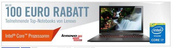 Cyberport - Bis zu 100 Euro Rabatt auf teilnehmende Lenovo-Notebooks