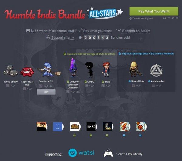 [Steam] Indie Bundle All Stars @Humble Bundle