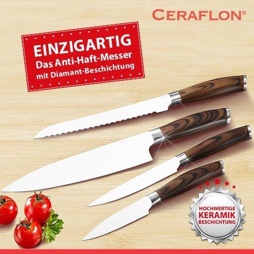 Ceraflon - Premium Edelstahl-Messerset - 4-teilig - für 4,99€ inkl. Versand!