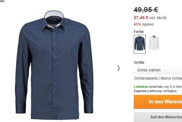 Olymp Level 5 BODY FIT - Hemden bis zu 50% reduziert