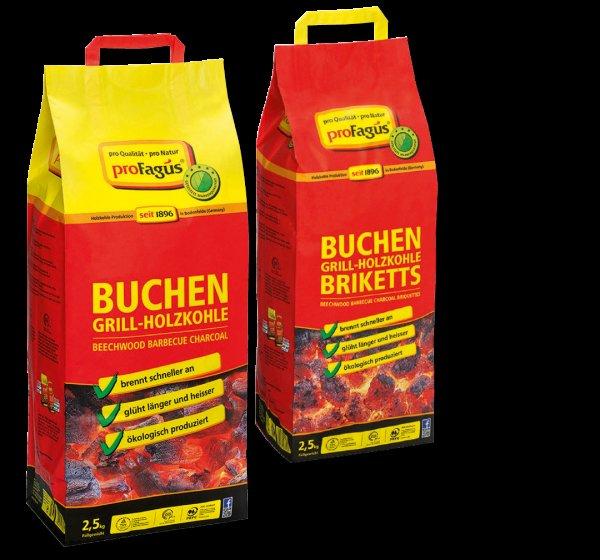 [Penny] Profagus Grillis - Buchen-Grill-Briketts und Buchen-Grill-Holzkohle - 1kg=1,78€