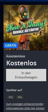 PSN | Oddworld: New 'n' Tasty | PS3 | PS4