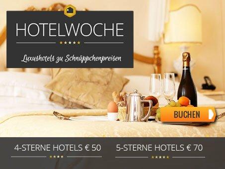 [hotelwoche.de] 4* Hotels für 25 € und 5* Hotels für 35 € p.P.N. inkl. Frühstück