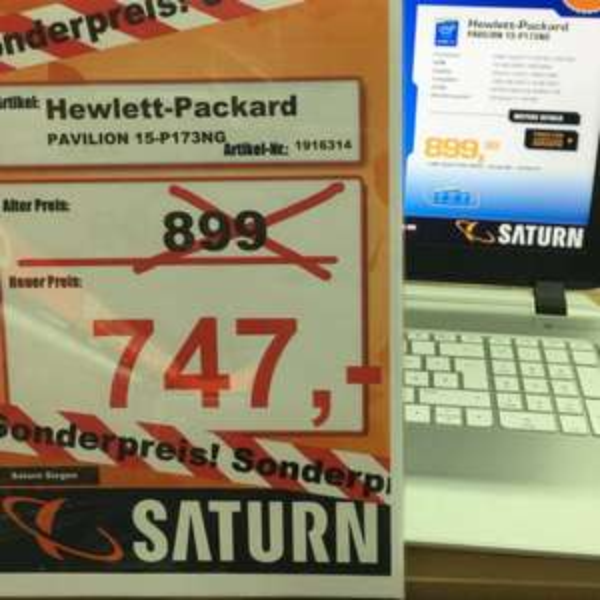 Notebook HP Pavilion 15-P173NG i7 16GB RAM FullHD lokal @Saturn Siegen
