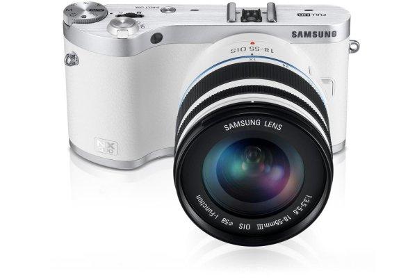 SAMSUNG NX 300M Kit 18-55mm weiß/silber, Systemkamera, 21,6 Megapixel, @Saturn late night