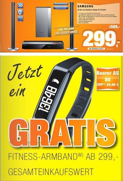 [Lokal Expert-Bening Gruppe] Samsung HT-FS9209 2.1 Blu-Ray-Heimkinoanlage mit WLAN, 3D und Röhrenverstärker und Beurer Activity-Tracker AS80 Schwarz für zusammen 299,-€