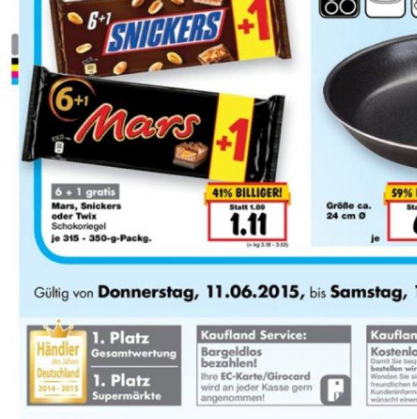 Mars / Snickers Riegel 6+1 Gratis [Lokal/Solingen/Kaufland]