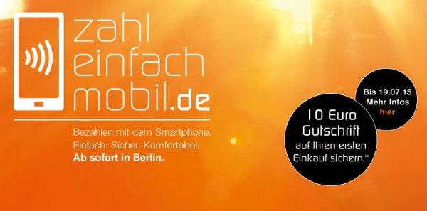 [BERLIN] 10 Euro GESCHENKT - kontaktlos bezahlen - www.zahl-einfach-mobil.de