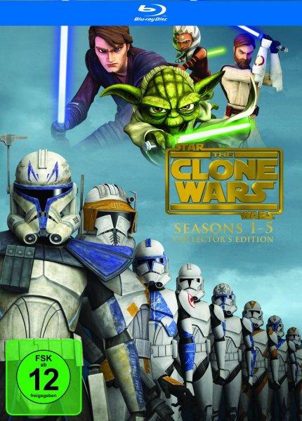 (Amazon.de) Star Wars: The Clone Wars - Komplettbox Staffel 1-5 Blu-ray für 64,97€