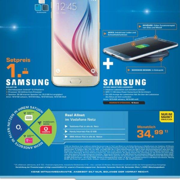 MD Vodafone allnet 2gb 35€mtl + Galaxy s6 + Ladestation einmalig 1€