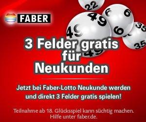 [LOTTO] 3 Felder gratis für Neukunden bei Faber