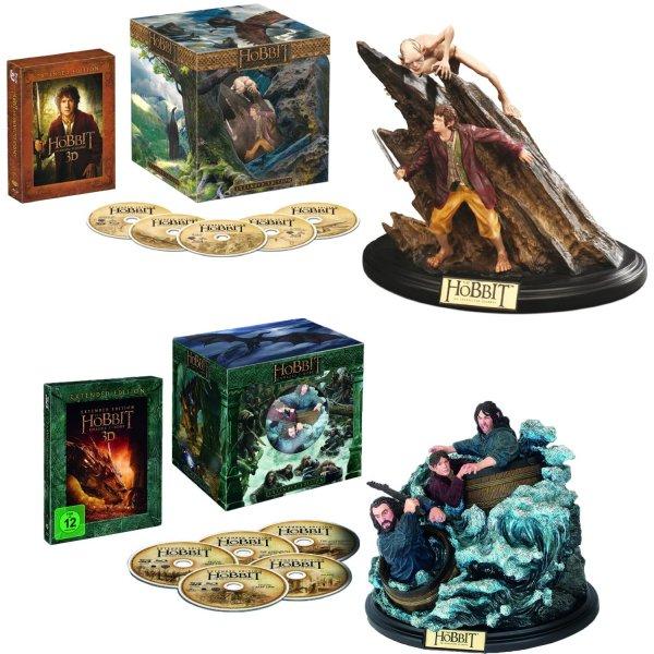 Der Hobbit: Teil 1 und 2 Extended Collector's Edition mit WETA Figur Blu-Ray + Blu-Ray 3D für je 25€ [MM Herzogenrath/Lokal]