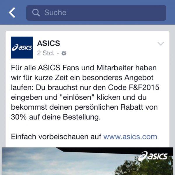 Asics -30% auf Bestellung auf Asics.com