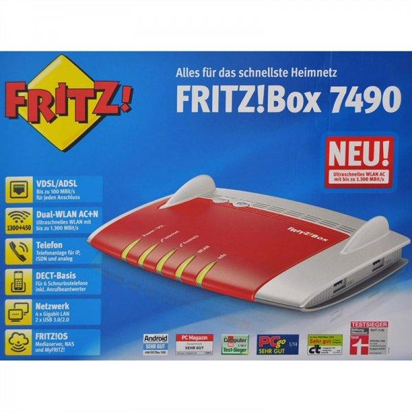 AVM Fritzbox 7490 mit Gutscheincode für 175,31 Euro, Idealo: 197,98€