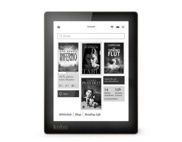 [Allyouneed] Kobo Aura (beleuchteter Ebook-Reader mit 4 GB, E-Ink-Pearl-Technologie, microSD) für 84€