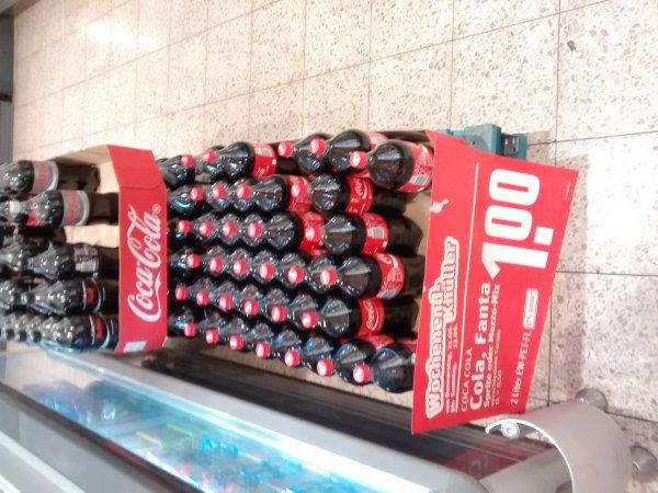 Coca Cola 2l 1€, Essen Steele, Rewe