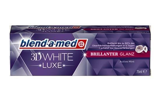[ROSSMANN bundesweit] KW25 Blend-a-med 3D White Luxe Brillianter Glanz Zahncreme (75 ml) für 0,99 € (Angebot + Coupon) [Gültig bis 19.06.2015]