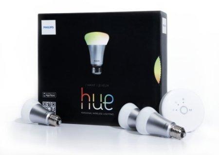 Philips Hue Starter Kit (3x RGB + Bridge) (mit Glück + 1x Gratis RGB-Lampe!) für 153,93€ [Amazon.fr]