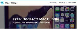 stacksocial: Ondesoft Mac Bundle, 5 Apps gratis