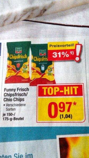 [Metro] Funny Frisch oder Chio Chips 150/175g Tüte