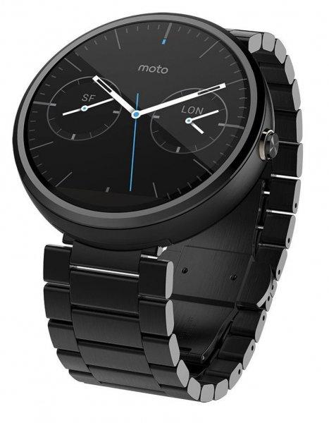 Motorola Moto 360 Smartwatch in Dark Finish oder Light Grey (Metallarmband, 23 mm) für 215,96€ Versandkostenfrei @Plus.de