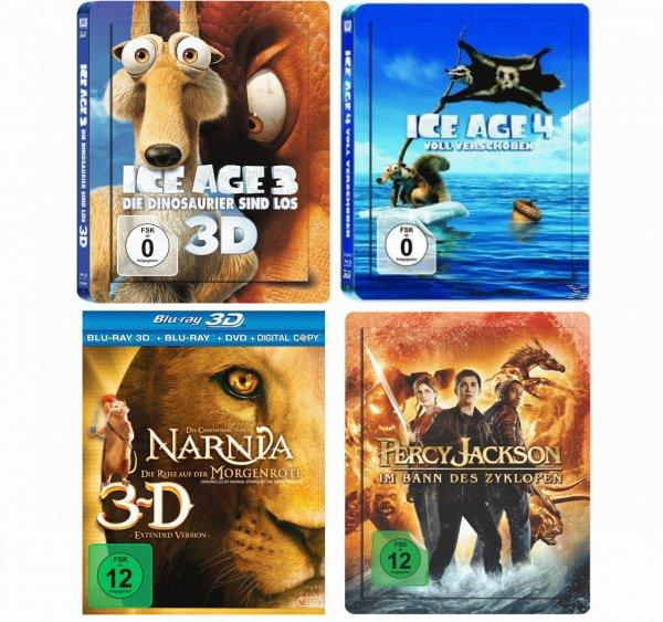 MM Exklusiv 3D Lenticular Blu-Ray Steelbooks für 14,99€ Percy Jackson, Chroniken von Narnia, Ice Age 3&4 [MM Eschweiler/Lokal]