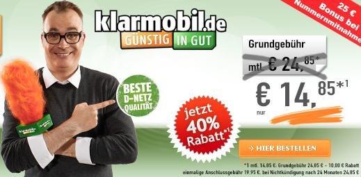 Vodafone ALLNet Flat nur  14,85 € ( 24 Monate)