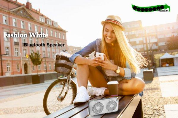 "@ ebay WOW bestbeans ""Fashion White"" Design Mobil Speaker Wireless Bluetooth"