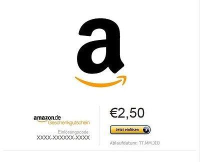 [ebay] 2,50€ Amazongutschein für 1,95€