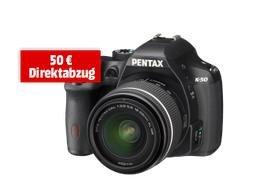 Pentax K-50 Kit 18-55 mm WR (schwarz) für 379€ @Media Markt