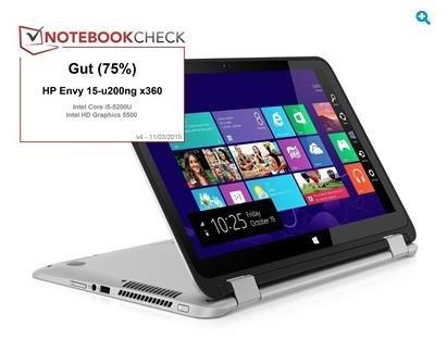 "HP Envy 15-u200ng x360 - 15,6"" Full HD Touchscreen, Core™ i5-5200U, Intel® HD 5500, 4GB Ram, 1TB HDD, HDMI, Win 8.1 für 514€ @HP"